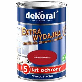 Emalia ftalowa EMAKOL STRONG czerwony karminowy 0,9l DEKORAL