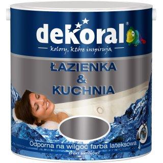 Farba do łazienki i kuchni szlachetny antracyt 2,5l DEKORAL