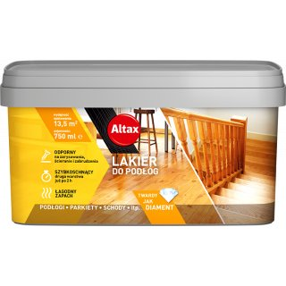 Lakier do podłóg 750 ml bezbarwny półmat ALTAX