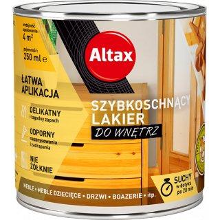 Szybkoschnący lakier do wnetrz 250 ml bezbarwny ALTAX