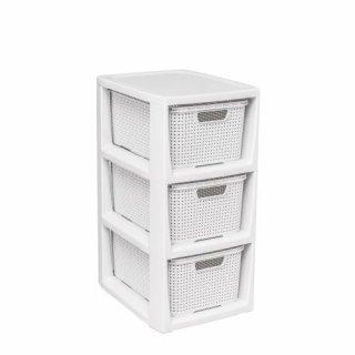 Regał łazienkowy 3-szufladowy biały