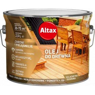 Olej do drewna 2,5 l kasztan ALTAX