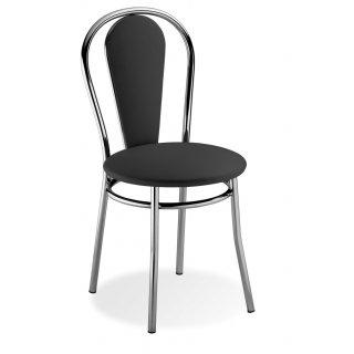 Krzesło tapicerowane czarne Vida NOWY STYL