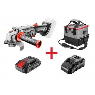 Zestaw narzędziowy szlifierka+torba+akumulator+ładowarka GRAPHITE