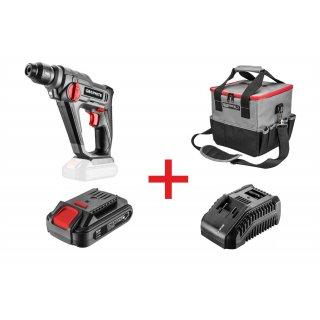Zestaw młotowiertarka+torba+bateria+ładowarka GRAPHITE