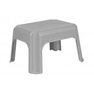 Taboret stołek plastikowy  srebrny KEEEPER