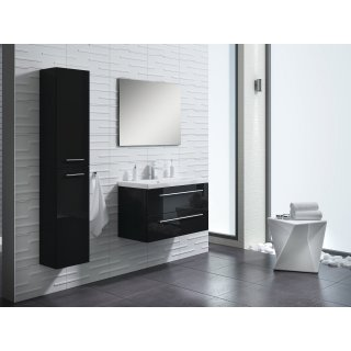Zestaw łazienkowy szafka z umywalką 60cm + słupek czarny ELITA