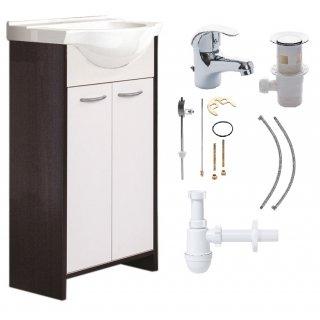 Zestaw łazienkowy Szafka z umywalką + Bateria + Syfon