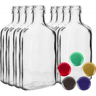 Butelka na nalewki piersiówka 100 ml 8 szt. BROWIN