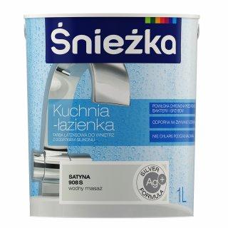 Farba lateksowa kuchnia-łazienka wodny masaż 1l ŚNIEŻKA
