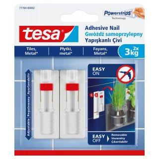 Gwóźdź samoprzylepny regulowany do płytek i metalu, 2 szt. 3kg TESA