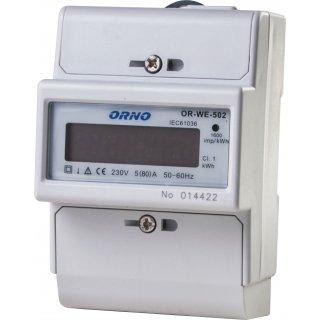 1-fazowy wskaźnik zużycia energii elektrycznej, 80A