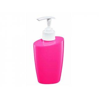 Dozownik mydła różowy BISK