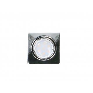 Oprawa sufitowa kwadratowa ruchoma chrom + żarówka LED 3W