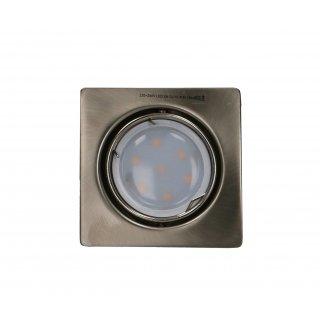 Oprawa sufitowa kwadratowa antyczne złoto + żarówka LED 3W