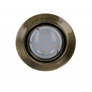 Oprawa sufitowa okrągła antyczne złoto + żarówka LED 3W
