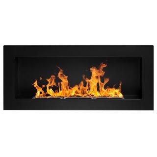 Biokominek czarny prostokątny 90x40x12 cm FIRE FAMILY