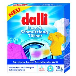 Chusteczki do prania tkanin kolorowych 15 szt DALLI