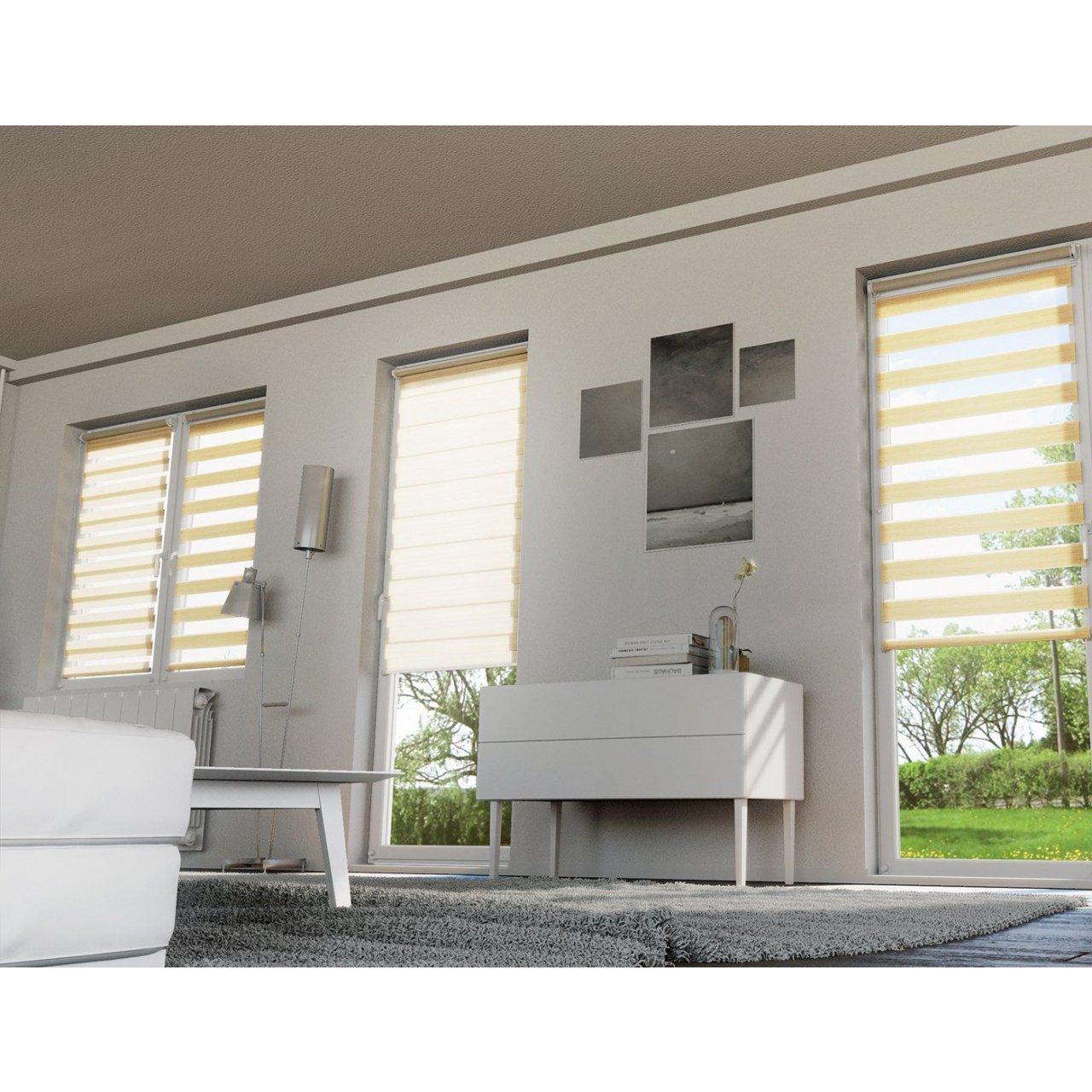 roleta okienna dzie noc 38x140 mleczny decodesign w. Black Bedroom Furniture Sets. Home Design Ideas
