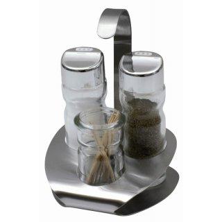 Komplet przyprawników Lindi 4-elementowy sól i pieprz AMBITION