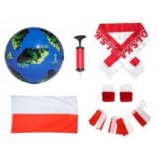 Zestaw kibica Mundial 2018 Rosja + piłka
