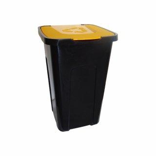 Kosz pojemnik do segregacji odpadów 50 L żółty KEEEPER