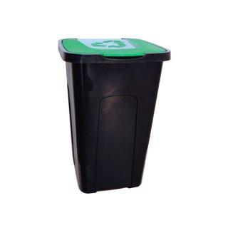 Kosz do segregacji odpadów 50 L zielony KEEEPER