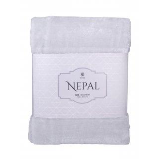 Koc Nepal 150x200 cm jasny szary BBK