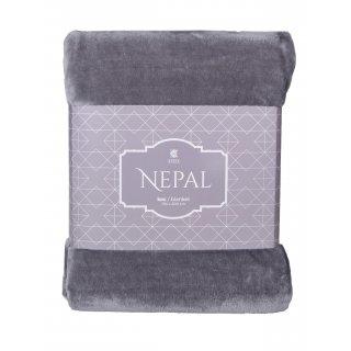 Koc Nepal 150x200 cm ciemny szary BBK
