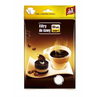 Filtry do kawy 50 szt. rozmiar 4 JAN NIEZBĘDNY