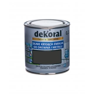 Emakol Strong czarny matowy 0,2l DEKORAL