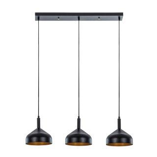 Lampa wisząca Narnia 3 czarna ADRILUX