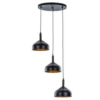 Lampa wisząca Narnia 3R czarna ADRILUX