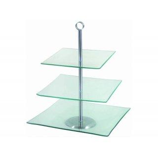 Patera kwadratowa trzypoziomowa Laura 29,3 x 29,3 cm AMBITION