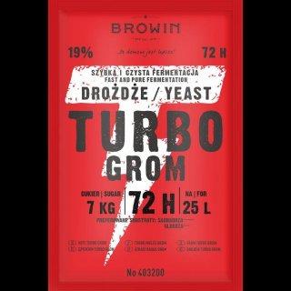 Drożdże gorzelnicze TURBO GROM 72h - 120g BROWIN