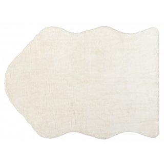 Dywan sztuczna skóra 55x85 cm biały