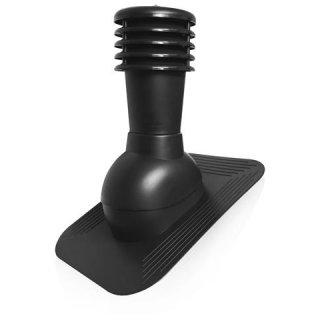 Kominek wentylacyjny nieocieplany regulowany czarny SCALA PLASTIC
