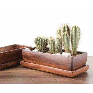 Donica Kaktusiarka prostokatna z podstawką EKO-CERAMIKA