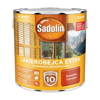 Impregnat do drewna  Szwedzka Czerwień 2,5L Sadolin Extra