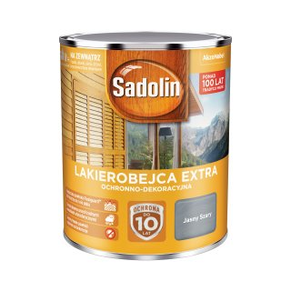 Impregnat do drewna  Jasny Szary 0,75L Sadolin Extra