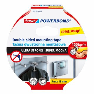 Taśma montażowa Powerbond Ultra Strong 5m x 19mm TESA