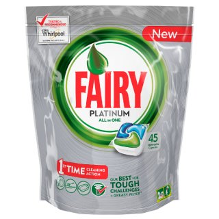 Kapsułki do zmywarek 45 szt Platinum all in one green FAIRY