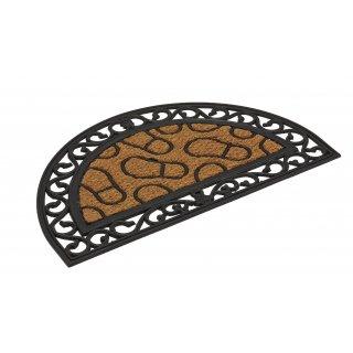 Kokos-Wycieraczka z gumą 45x76cm owalna stopy VOG POLSKA