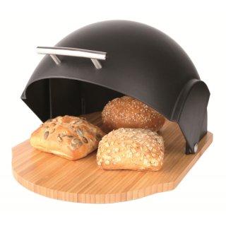Chlebak z pokrywą Vader 39 x 26,5 x 20 cm czarny AMBITION