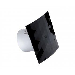 Wentylator Black&White 100 WCH z nakładką czarną DOSPEL