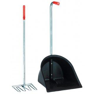 Zestaw do sprzątania Mistboy czarny łopata + grabie CAN AGRI