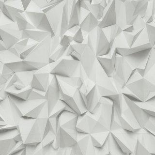 Tapeta winylowa na flizelinie białe origami 10 mb POLAMI