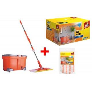 Zestaw mop rotacyjny płaski Maxi + wkład do mopa JAN NIEZBĘDNY