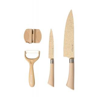 Komplet noży z ostrzałką Stone 4-elementowy AMBITION