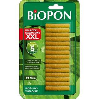 Pałeczki nawozowe XXL do roślin zielonych 15 szt BIOPON